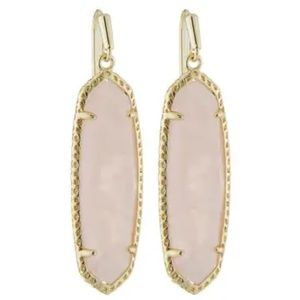 Kendra Scott Gold & Rose Quartz Layla Drop Earring